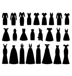 dresses icon for women female textile flat design vector image