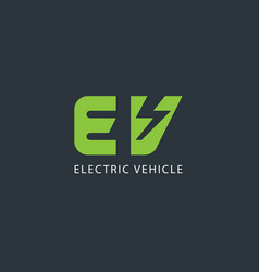 electric vehicle logo design template vector image