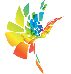 Fantasy colorful bird vector