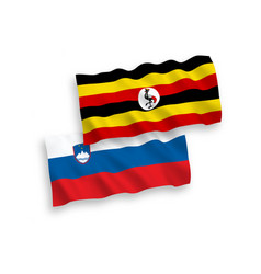 Flags slovenia and uganda on a white background vector
