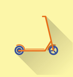Flat style kick scooter icon vector
