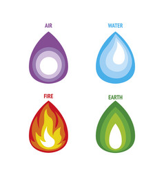 four elements nature vector image