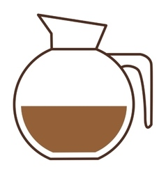 Glass jar of coffee with handle vector