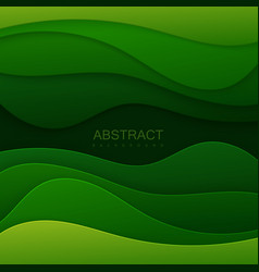 Green paper topographic relief vector