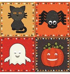 Halloween ornaments vector