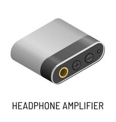 headphone amplifier audio device music record vector image