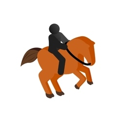 Horseback riding isometric 3d icon vector