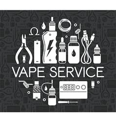 Icons set of Vape service vector