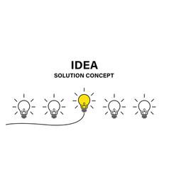 idea creative concept isolated success lamp vector image
