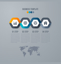 Infographic design template 4 options vector