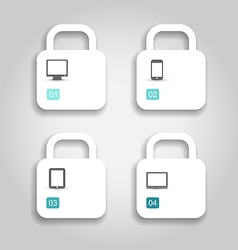 Infographic design template paper tags vector