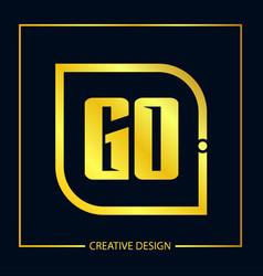 Initial letter go logo template design vector