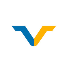 initial letter v logo template design vector image