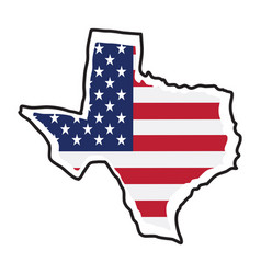 isolated map of the state of texas vector image