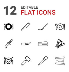 knife icons vector image