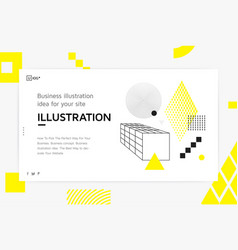 Landing page template vector