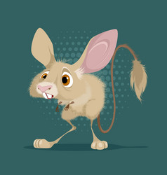 little funny jerboa vector image