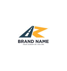 Logo design for letter r and road vector