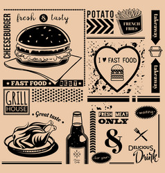 menu pattern vector image