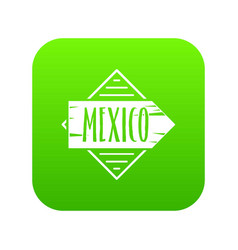Mexico icon green vector