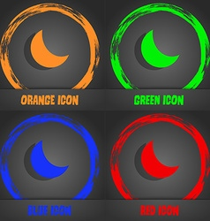 moon icon Fashionable modern style In the orange vector image