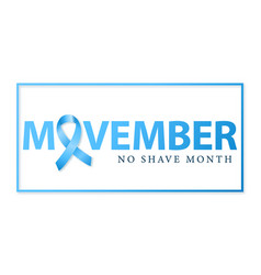 movember concept design mens health issues vector image