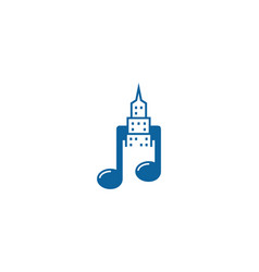 music town logo icon design vector image