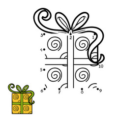 numbers game christmas gift vector image