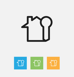 Of family symbol on rent home vector