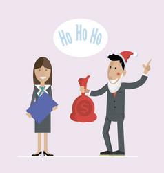 Office christmas gifts santa vector