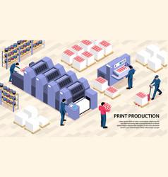 Print production horizontal vector