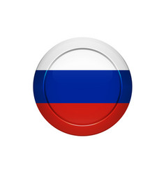 russian flag on the round button vector image