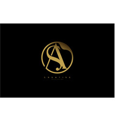 Sa as letter linked rounded shape luxury premium vector