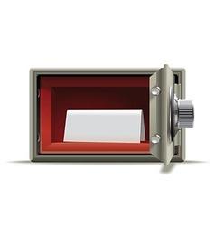Safe deposit blank vector image