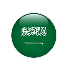saudi arabia flag on button vector image