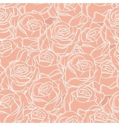 Seamless abstract background with roses pattern vector