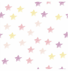 Seamless star pattern pastel color vector