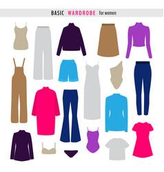 set colorful woman clothes vector image