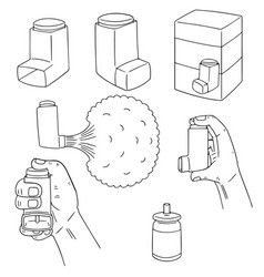 Set of inhalation medicine vector