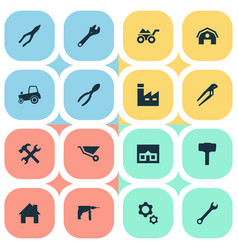 set of simple repair icons vector image vector image