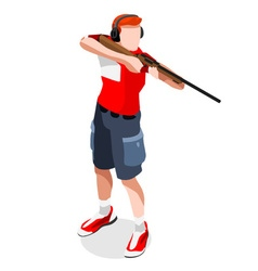 Shooting 2016 Sports Isometric 3D vector