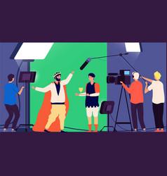 Shooting movie filmmaking production cinema vector