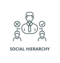 Social hierarchy line icon linear concept vector