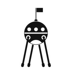 Sputnik black simple icon vector