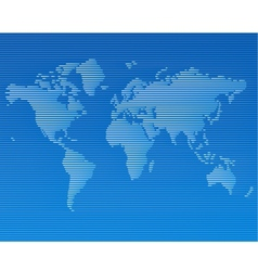 striped line world map template vector image