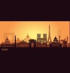 Stylized landscape paris with eiffel tower arc vector