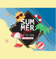 summer sale background layout for poster flyer vector image