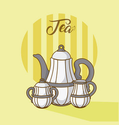 Tea kettles collections vector