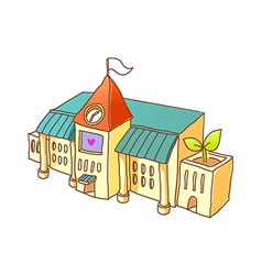 The school stand on the street vector image