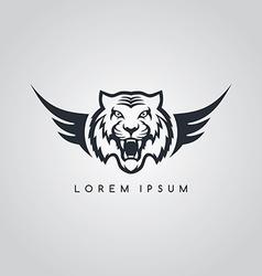 Tiger aviator symbol logo logotype theme vector